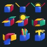 Box logos Royalty Free Stock Photo