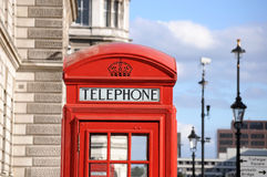 box london telephone Arkivbild