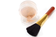 Box Loose powder with brush Royalty Free Stock Photography