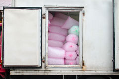 Box lorry full of ice packs for sale Royalty Free Stock Photo