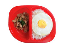 Box of lunch set. Isolated Stock Photo