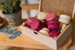 Box with macaroon Royalty Free Stock Photography