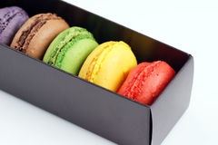 Box of macaroons Stock Photo