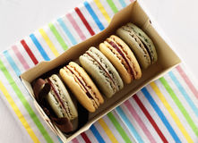 Box with macaroons Royalty Free Stock Photos
