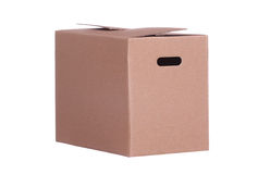 Box made of cardboard Stock Image