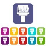 Box magic icons set Stock Images