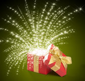 Box. Magical gift Royalty Free Stock Image