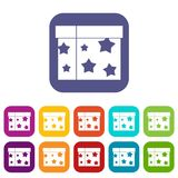 Box magician icons set Royalty Free Stock Photo