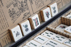 Box of Mahjong tiles Royalty Free Stock Photo