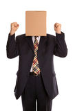 Box man celebration Stock Photography