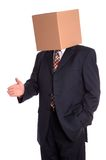 Box man handshake Royalty Free Stock Image