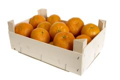 Box with Mandarins Royalty Free Stock Photography