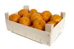 Box with Mandarins royalty free stock photography