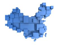 Box map of china Stock Photo