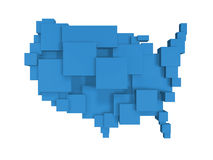Box map of usa Stock Images