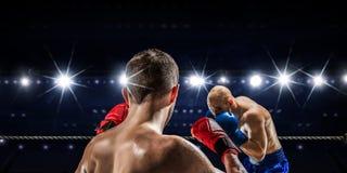 Box match best moments . Mixed media Stock Image