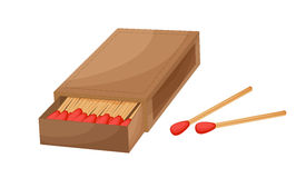 Box of matches. On a white background Royalty Free Stock Photos