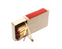 Box with matches Stock Image
