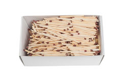 Box with matches Stock Photo