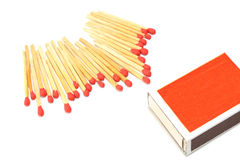 Box of matches isolated on white background Royalty Free Stock Photography