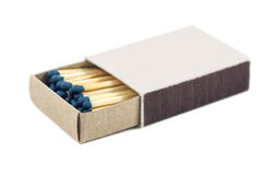 Box of matches isolated on white background Stock Images