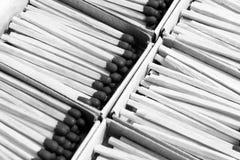 Box of matches, isolated on white background Stock Photo