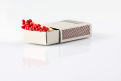 Box with matches Stock Images