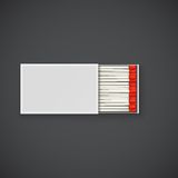 Box of matches with red head. Royalty Free Stock Photos