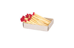 Box with matches. On a white background Royalty Free Stock Photography
