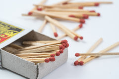 Box of matches  on white background Stock Photography