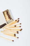 Box of matches on a white Stock Photo