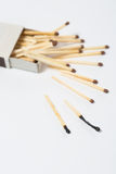 Box of matches on a white Royalty Free Stock Images