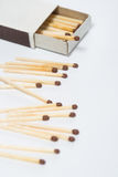 Box of matches on a white Stock Image