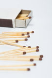 Box of matches on a white Royalty Free Stock Image
