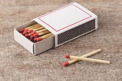 Box of matches Stock Photography