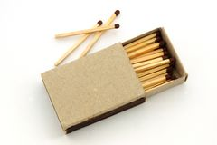 Box with matches Royalty Free Stock Images