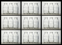 Box of milk bottles Royalty Free Stock Images