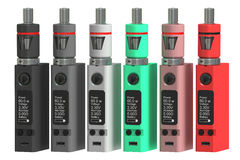 Box Mods Electronic cigarettes, 3D rendering Royalty Free Stock Images