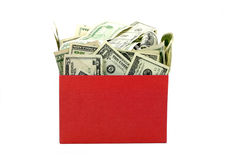 A box of money Royalty Free Stock Image