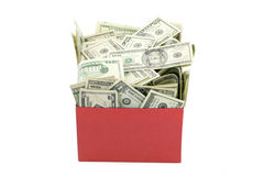 A box of money royalty free stock photography