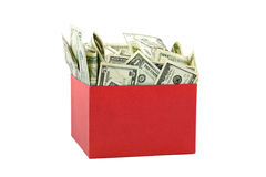 A box of money Stock Image