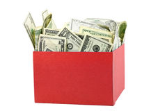 A box of money Stock Photography