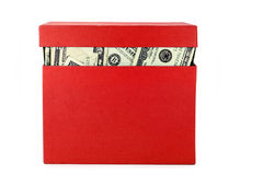 A box of money Royalty Free Stock Images
