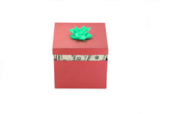 A box of money Royalty Free Stock Photo
