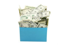 A box of money Stock Photo