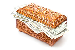 Box and money Royalty Free Stock Photos
