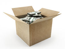 Box with money Royalty Free Stock Image