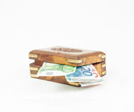 Box with money Royalty Free Stock Photography