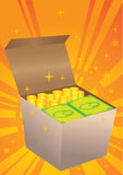 Box of money Stock Images