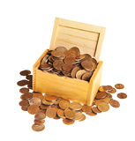 Box of money Stock Photo
